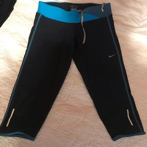 Nike Dry Fit Cropped Running Legging (S)